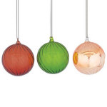 "Swirling Ball Ornaments - 4"" - set of 3"