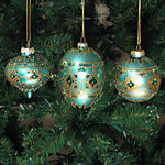 Gold & Topaz Christmas Ornaments - set of 3