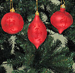 Matte Red Christmas Ornaments - 3.25""