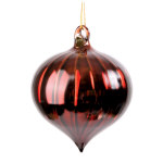 Faceted Bronze Onion Finial Ornament - 3""