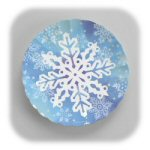 Glitter Snowflake Serving Trays - Set of 3