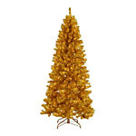 7 ft. Pre-Lit Gold Paradise Tinsel Tree