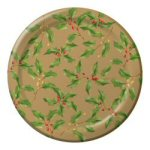 Golden Holly Banquet Plates - Set of 8