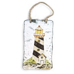 "4.5"" Glass Lighthouse Ornament"