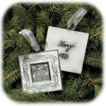 "3"" Lineage Engravable Photo Frame Ornament"