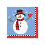 Lodge Snowman Beverage Napkins - pkg. of 20