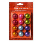 "1"" Petite Treasures Satin Ball Ornaments - set 12"