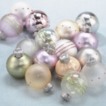 Mini Luster Ball Ornaments - set of 16 - 2""
