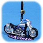 "4.5"" Chrome ""Widow"" Motorcycle Ornament"