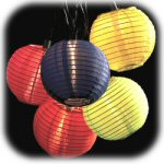"2.75"" Multicolored Ball Lanterns - string of 10"