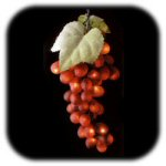 Lighted Triple Red Grape Cluster