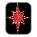 "20"" Hanging Red Bethlehem Star Light"