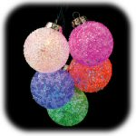 6-Light Translucent Beaded Morphing Spheres Set