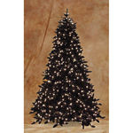 7.5 Prelit Ashley Black Christmas Tree