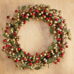 "22"" Woodland Berry Christmas Wreath"