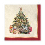 Vintage Christmas Luncheon Napkins - pkg. of 16