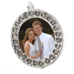 "2"" x 2"" Crystal Photo Frame Ornament"