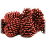"3"" Red Glitter Pinecones - pkg. of 12"