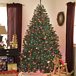Prelit 6.5 Ft Christmas Tree Noble Pine MultiLight