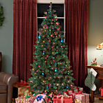 6.5 Ft Slender Christmas Tree Prelit Multi Light