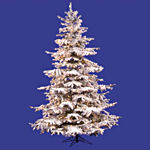 Flocked Sierra Prelit Fir Christmas Tree