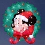 Lighted Mickey Mouse Wreath - 30""