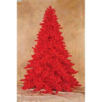 Prelit Ashley Red Christmas Tree