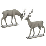 Pewter Reindeer Figurines - set of 2 - 5""