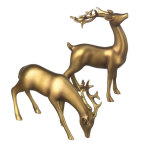 Golden Stag Figurines - set of 2 - 5.25""