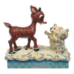 Jim Shore Rudolph & Polar Babies Figurine - 5""