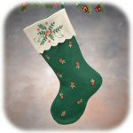 "16"" Simply Felt Green Stocking"