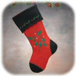 "16"" Simply Felt Red Stocking"