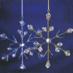 "5"" Silver Snowflake Ornaments - asst. set of 12"