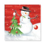 Snowman Greeting Dinner Napkins - pkg. of 16