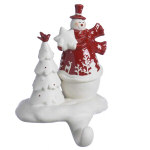 Snowman Stocking Hanger - 7.5""