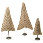 "14"" Stitched Christmas Trees - set of 3"