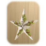 Iced Greenery Star Ornaments - Set of 2