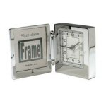 Personalized Rectangular Chrome Clock