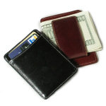 "3.75"" Leather Card Holder and Money Clip"