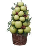 "15.5"" Homegrown Green Apple Holiday Tree"