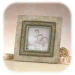 Heartstone Olive Border 4 x 4 Picture Frame
