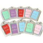 "5.25"" Silver Sequin Gift Card Holder Tag"