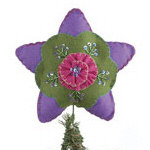 "8.5"" Quilted Felt Tree Topper with Sequins & Beads"