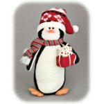 "14"" Fabric Penguin Figurine"