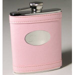 Personalized Pink 6 oz Flask