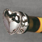 Silverplated Heart Wine Bottle Stopper